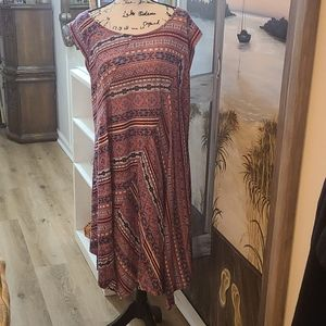New Directions Woman Patterned Knit Dress